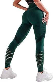 TSUTAYA Women's High Waist Seamless Leggings Squat Proof Ankle Yoga Pants Gym Fitness Workout Tights Tummy Control