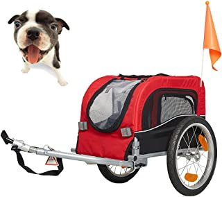 Lucky Tree Pet Dog Bike Trailer Bicycle Trailer Carrier Cycling