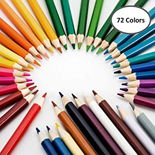 72 Colors Colouring Pencils set Colored Best Oil Based Pencils For Adult Coloring Books Kids Artist Art Drawing Sketching ...