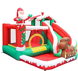 Christmas Kids Bouncer with Large Jumping Area Castle Bounce House, Bouncer with Large Jumping Area Slide with Climbing Wa...