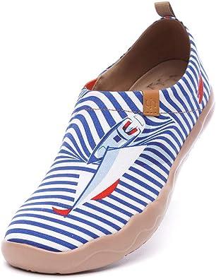 uin Scarpe Ginnastica Scarpe Espadrillas Ferry Well per Donna Casual Slip on Mocassini Sneakers Basse Colorate in Tela Dipinta a Mano