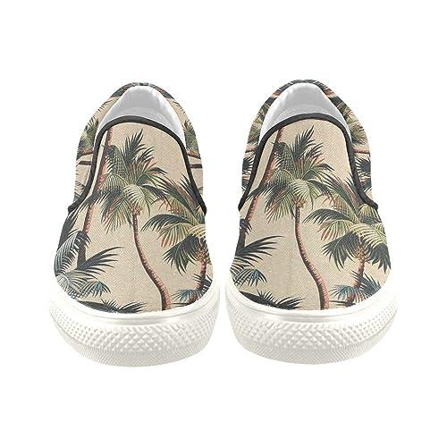 37ce1da9932c Canvas Shoes D-Story Retro Palm Tree Men s Slip-on Fashion Sneaker