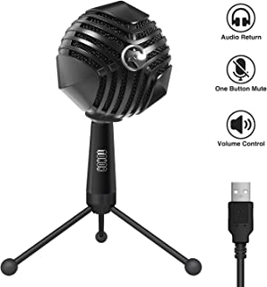 TONOR PC Microphone USB Computer Condenser Studio Mic Plug & Play for Recording/Chatting/Skype/YouTube/Gaming/Podcasting for iMac PC Laptop Desktop Windows Computer