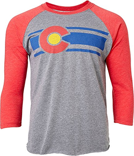 Colorado Limited Herren Rot & Grau Colorado Baseball Sleeve Shirt (rot/grau, Medium)