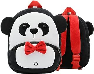OULII Toddler Kids Backpack Plush Cartoon Satchel Bag Light Children Shoulder Bag (Panda)