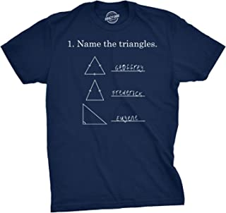 Mens Name The Triangles Funny Math T Shirts Sarcasm Novelty I Love Math Tee for Guys