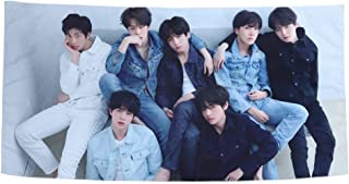 NUOFENG Kpop BTS Tapestry Love Yourself Tear Bangtan Boys Wall Hanging Tapestry for Home Decor 39x19inch (H02)