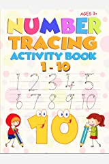 Number Tracing Activity Book 1-10: For preschool, pre-k, Kindergarten and kids ages 3 - 5 Kindle Edition