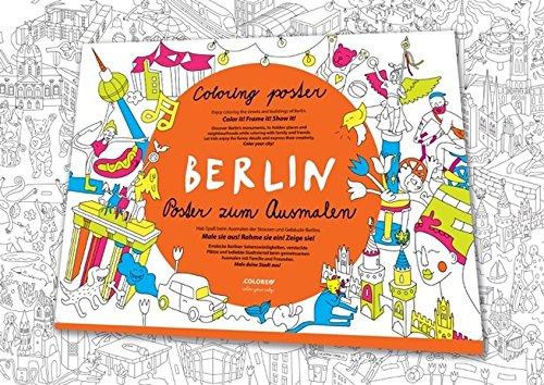 Wimmelstadtplan Berlin: Poster zum Ausmalen