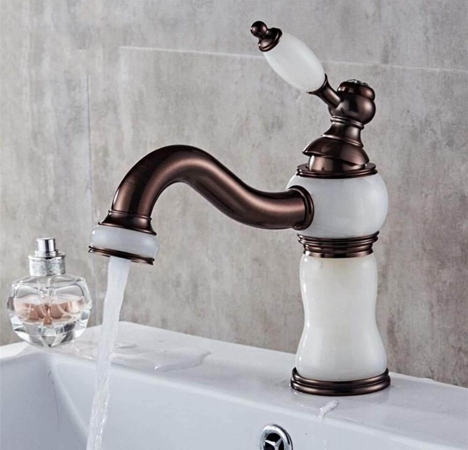 Modern Waterfall Copper Hot and Cold Kitchen Sink Taps Kitchen Faucet Bathroom Basin