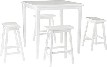 ACME 5Pc Pk Counter Height Set, White