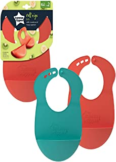 Tommee Tippee Roll and Go Bibs x 2, 2 Counts