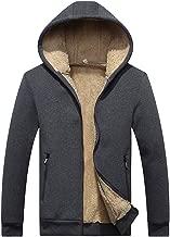 iYYVV Mens Autumn Winter Hoodie Velvet Zipper Thicken Warm Jacket Fleece Outwear Coat