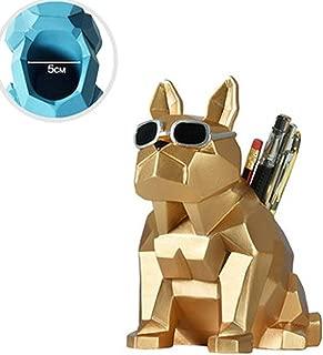 DKX Pen Holder Creative Fashion Small Fresh Cute Student Desktop Decoration Storage Box Pen Barrel Quality (Color : Gold)