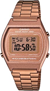 Casio Women's Rose Gold Dial Stainless Steel Digital Watch - B640WC-5ADF