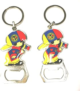 SoNice Gift Mexico Soccer Team Keychain Key chains Key ring Pack of 2 (CLUB AMERICA)