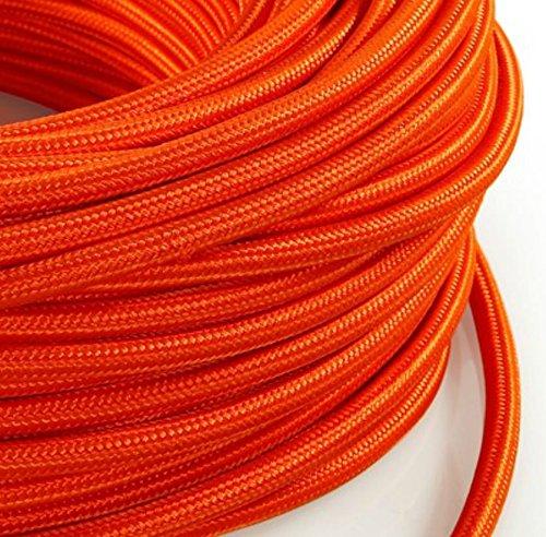 section 3/x 0,75/mm C/âble /électrique rond de style vintage design Produit fabriqu/é en Italie. lampes gain/é de tissu gris fonc/é pour lustres MeToo Design H03VV-F