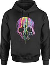 Expression Tees Neon Dripping Skull Unisex Adult Hoodie