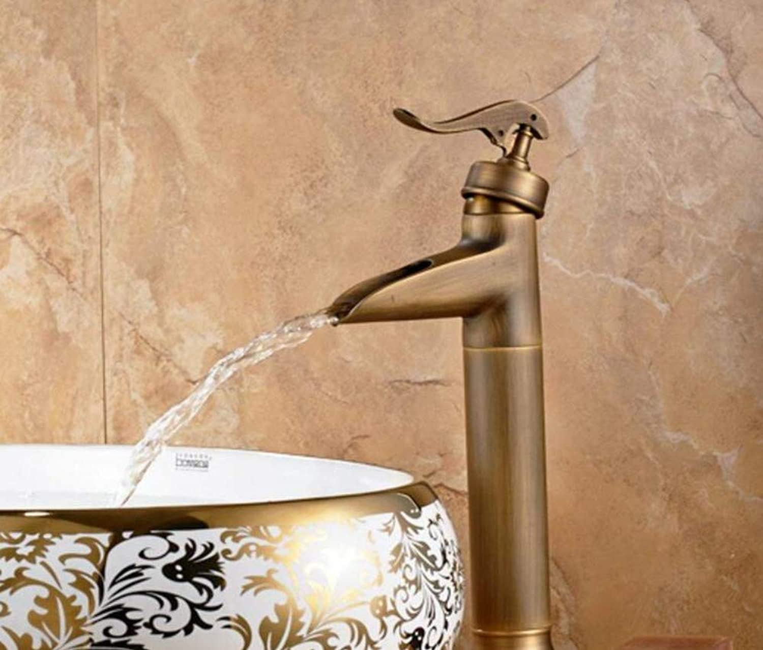 Retro Mixer Faucet All-Copper Basin Mixer Antique Faucet Hot and Cold Wash Basin Bathroom Counter Basin Counter Basin Faucet