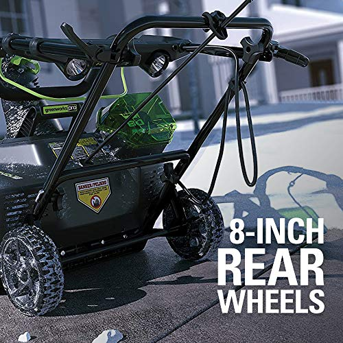 Greenworks PRO 20-Inch 80V Cordless Snow Thrower, 2.0 AH Battery Included 2600402