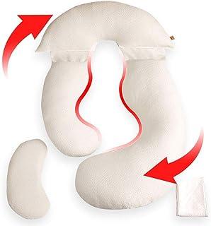 CQILONG Lactancia Lavable Dormir, Tejido de Capa de Aire, Resistencia de Alta eficiencia, cómoda Almohada para Dormir, Espuma viscoelástica, Almohada Lumbar (Color : White, Size : 190x90x120cm)