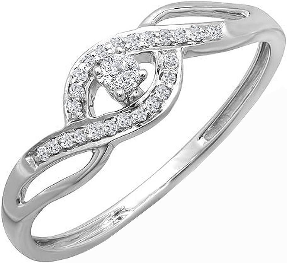 Dazzlingrock Collection 0.12 Carat ctw 10K Gold Diamond Don't miss the campaign Super-cheap Round