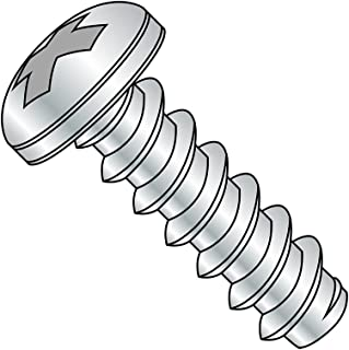 Zinc Plated Pan Head Type B 1 Length #2-32 Thread Size Pack of 100 Steel Sheet Metal Screw Phillips Drive
