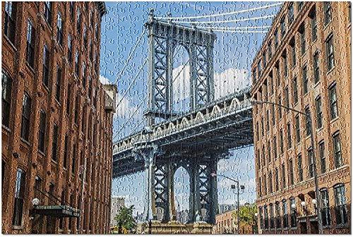 Nueva York NY   Vista del puente de Brooklyn desde Dumbo 9002472 (rompecabezas de 1000 piezas para adultos y familias)