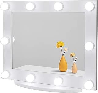 Make Up Mirror Miroir de Maquillage avec lumi/ère LED et Miroir grossissant 1X Miroir de Maquillage /Éclair/é avec Une lumi/ère Non /éblouissante pour Le Maquillage 2X Le Rasage 3X10X