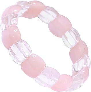 Rosenquarz Edelstein-Armband Stretch Perlenarmband D123
