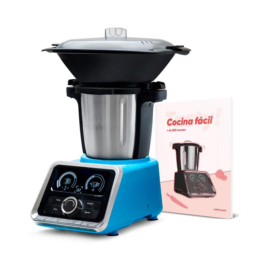 Mellerware Robot Cocina Tasty! 2,5 litros de Capacidad. Incluye recetario con más de 200 Recetas. Incluye Todos los Accesorios. 12 velocidades más función Pulse.: Amazon.es: Hogar