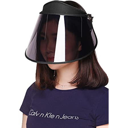 GOKEI サンバイザー レディース レインハット レインバイザー 【アームカバー付き】 自転車 キャップ UVカット UPF50+ 紫外線対策 日焼け対策 つば広 ワイド 帽子 ブラック…