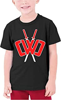 Youth Fashion Chad Wild Clay Custom T-Shirt Boy Girl Colorful Tops, Black, Small