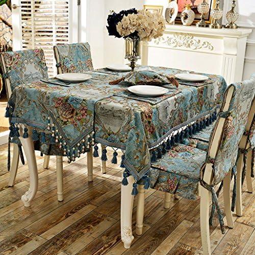 William 337 Tischdecke Chenille Rechteckige Tischdecken Familie Tuch Tischdecken - Multi-Größe Optional (Farbe   C, Größe   210  150cm)