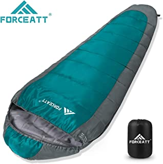 Forceatt Mummy Sleeping Bag (for 1-2 Seasons), Adult and Children Backpack Travel Sleeping Bag,Lightweight and Thin,Tear-Proof and Waterproof,Suitable for Hiking, Camping