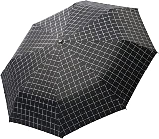 AUWANGAOFEI Thick Vinyl Sun Umbrella Folded Umbrella Checker Board JIUHE (Color : Black, Size : 58)
