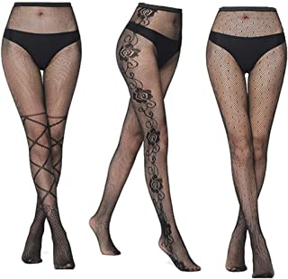 Women's Sheer Tights Stockings Silk Bodystocking Fishnet Hights Tights Lingerie