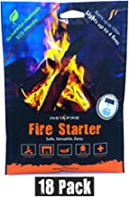 InstaFire Granulated Fire Starter, All Natural, Eco-Friendly, Lights up to 72 Total Fires in Any Weather, Awarded 2017 Fire Starter Of The Year, 18 Pk
