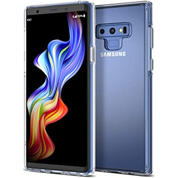 Trianium Clarium Series Galaxy Note 9 Case with Reinforced Corner TPU Cushion and Hybrid Rigid Clear Back Plate Protection for Samsung Galaxy Note9 Phone (2018) - Clear