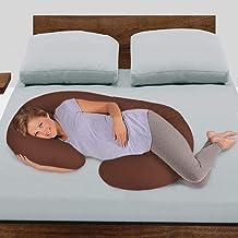 Novo 2.25kg PP Cotton comfort Pregnancy & Maternity Pillow, Brown - 145x80x25cm