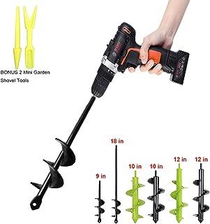 Auger Drill Bit Garden Plant Flower Bulb Auger Rapid Planter Bulb & Bedding Plant Auger for 3/8