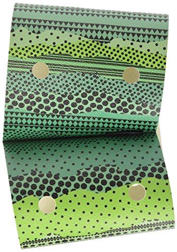 O bag Damen Chic Etnico Handtasche, Grün (Verde), 1x16.5x35 cm