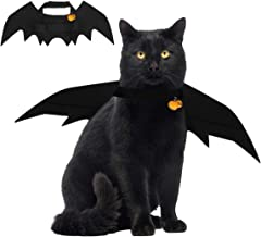 Emopeak Halloween Cat Costume Bat Wings, Pet Costumes with 2 Collar Bell for Small Dogs and Cats