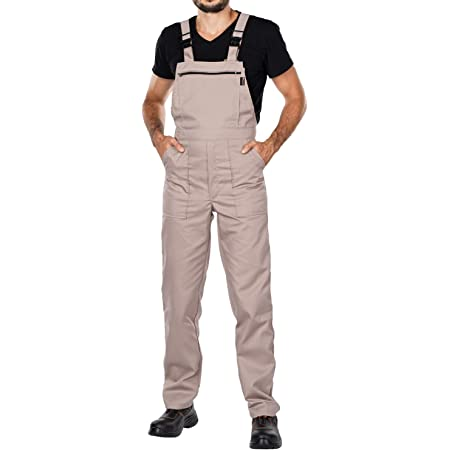 Work Bib and brace overalls, Overalls men, Bib and Brace Dungarees mens, Made in EU, Mazalat Protective coverall, S -3XL size - made in EU - work trousers for man, Lots of colors (S, Beige)