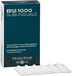 BIOS LINE Principium B12 1000 Sublinguale, Vitamina b12 in forma attiva contro stanchezza e affaticamento, Integratore sis...