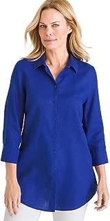 Chico's Women's No-Iron Linen Side-Button Tunic