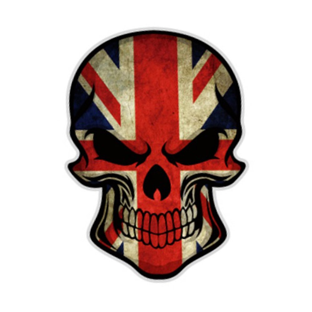 S2s Skull Scary Car Styling Decal Reflective Car Bike Sticker Design A Buy Online In Andorra At Desertcart 75910276