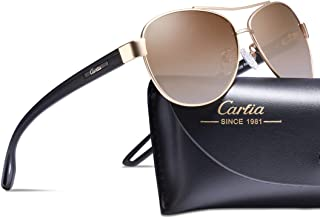 Carfia Polarized Sunglasses for Women 100% UV400 Protection Lightweight Comfort Design