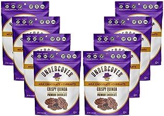 UNDERCOVER CHOCOLATE CRISPY QUINOA CRUNCH   MILK CHOCOLATE + CURRANTS  Gluten Free Crispy Quinoa chocolate snacks   Kosher...