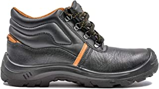 Hillson Apache Isi Approved Leather Safety Shoe (White-Black 8)